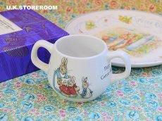 画像1: CH018 Peter Rabbit ピーターラビット ダブルハンドル マグカップ (1)