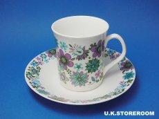 画像3: MB002 Elizabethan エリザベザン カーナビー パープル コーヒーカップ&ソーサー (3)