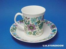 画像4: MB002 Elizabethan エリザベザン カーナビー パープル コーヒーカップ&ソーサー (4)