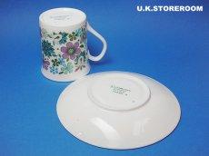 画像6: MB002 Elizabethan エリザベザン カーナビー パープル コーヒーカップ&ソーサー (6)