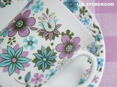 画像2: MB002 Elizabethan エリザベザン カーナビー パープル コーヒーカップ&ソーサー (2)