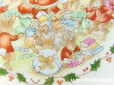 画像3: CH062 Royal Doulton Bunnykins  ロイヤルドルトン バニキンズ クリスマスプレート (3)