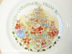 画像2: CH062 Royal Doulton Bunnykins  ロイヤルドルトン バニキンズ クリスマスプレート (2)