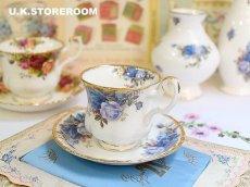 画像1: RA075 Royal Albert  ロイヤルアルバート ムーンライトローズ コーヒーカップ&ソーサー (1)