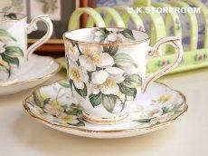 画像2: RA083 Royal Albert  ロイヤルアルバート オレンジブロッサム コーヒーカップ&ソーサー (2)