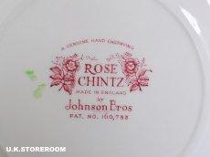 画像5: OB146 Johnson Bros ジョンソンブロス ローズチンツ ケーキプレート A (5)