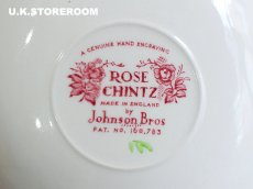 画像12: OB144 Johnson Bros ジョンソンブロス ローズチンツ ティーカップ&ソーサー A (12)