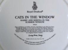 画像7: CH138 Royal Doulton Lesley Anne Ivory  レズリー・アン・アイボリー Cats in the window サマー ピクチャープレート  (7)