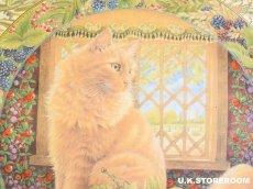 画像3: CH137 Royal Doulton Lesley Anne Ivory  レズリー・アン・アイボリー Cats in the window オータム ピクチャープレート  (3)
