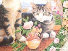 画像4: CH138 Royal Doulton Lesley Anne Ivory  レズリー・アン・アイボリー Cats in the window サマー ピクチャープレート  (4)