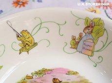 画像7: CH139 Wedgwood  Peter Rabbit  ウェッジウッド ピーターラビット グリーンライン サラダ/シリアルボウル (7)
