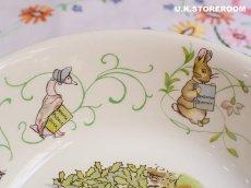 画像6: CH139 Wedgwood  Peter Rabbit  ウェッジウッド ピーターラビット グリーンライン サラダ/シリアルボウル (6)