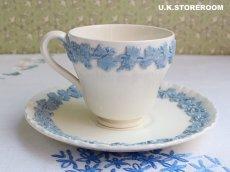 画像4: OB203 Wedgwood ウェッジウッド  クィーンズウエア コーヒーカップ&ソーサーB (4)