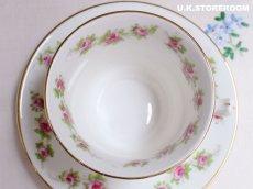 画像7: OB220 Blyth Porcelin/Diamond China  ブライスチャイナ ローズガーランド ティートリオA (7)