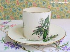 画像6: OB222 Aynsley エインズレイ  スズラン  コーヒーカップ&ソーサー (6)