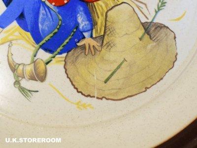 画像1: CO062  Dover Stone Nursery Rhyme   ドーバーストーン ナーサリーライム ケーキプレート -Little Boy Blue-