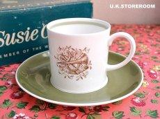 画像1: SC195 Susie Cooper  スージークーパー メロディ コーヒーカップ&ソーサー  (1)