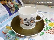 画像1: SC199 Susie Cooper スージークーパー スポンジングパターン コーヒーカップ&ソーサー  (1)