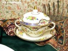 画像1: OB256 Tuscan China  タスカンチャイナ ふた付きスープカップ&ソーサー (1)