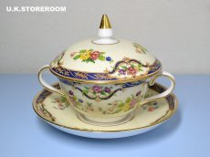 画像2: OB256 Tuscan China  タスカンチャイナ ふた付きスープカップ&ソーサー (2)