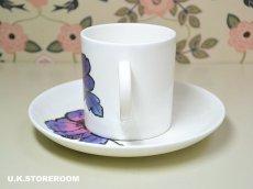 画像3: SC218 Susie Cooper スージークーパー ブルーアネモネ コーヒーカップ&ソーサー  (3)