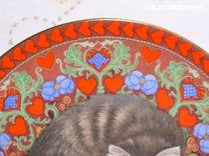 画像4: CH180 Aynsley Lesley Anne Ivory  レズリー・アン・アイボリー Meet My Kitten 2月 ピクチャープレート  (4)