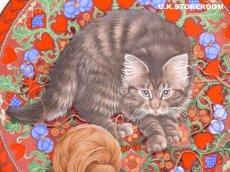 画像3: CH180 Aynsley Lesley Anne Ivory  レズリー・アン・アイボリー Meet My Kitten 2月 ピクチャープレート  (3)