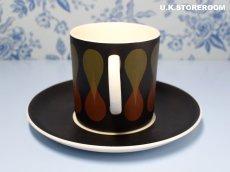 画像5: SC231 Susie Cooper  スージークーパー ディアブロ コーヒーカップ&ソーサー  (5)