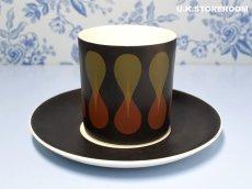 画像3: SC231 Susie Cooper  スージークーパー ディアブロ コーヒーカップ&ソーサー  (3)
