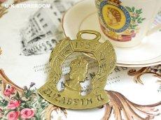 画像1: CO080 エリザベス女王 コロネーション ホースシュー 真ちゅう製オーナメント (1)