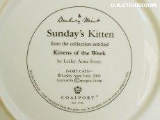 画像6: CH182 Coalport Lesley Anne Ivory  レズリー・アン・アイボリー Kitten of the Week -Sunday's Kitten- ピクチャープレート  (6)