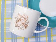 画像9: SC282 Susie Cooper  スージークーパー メロディ コーヒーカップ&ソーサー 〜ターコイズブルー〜  (9)