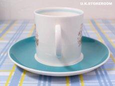 画像5: SC282 Susie Cooper  スージークーパー メロディ コーヒーカップ&ソーサー 〜ターコイズブルー〜  (5)