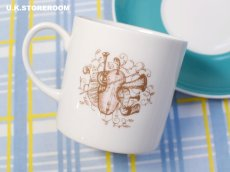 画像10: SC282 Susie Cooper  スージークーパー メロディ コーヒーカップ&ソーサー 〜ターコイズブルー〜  (10)