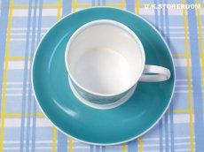 画像6: SC282 Susie Cooper  スージークーパー メロディ コーヒーカップ&ソーサー 〜ターコイズブルー〜  (6)