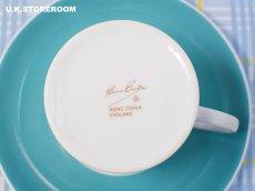 画像11: SC282 Susie Cooper  スージークーパー メロディ コーヒーカップ&ソーサー 〜ターコイズブルー〜  (11)
