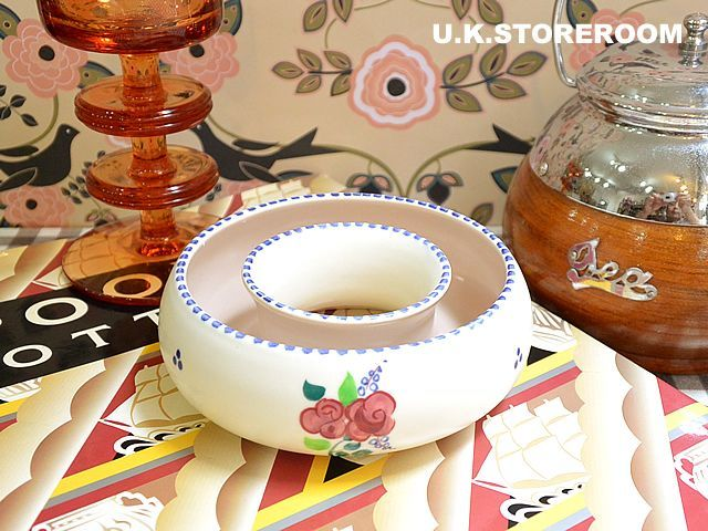 画像1: MB032 Poole Pottery プールポタリー  ラウンドフラワーベース (1)