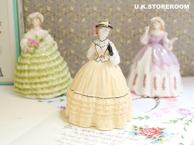 画像1: RW019 Royal Worcester  ロイヤルウースター ファッショナブルヴィクトリアンズ フィギュリン〜Lady Alice〜 (1)