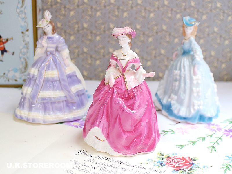 画像1: RW015 Royal Worcester  ロイヤルウースター ファッショナブルヴィクトリアンズ フィギュリン〜Lady Elizabeth〜 (1)