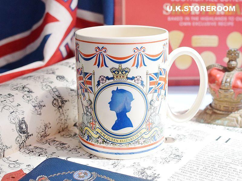 画像1: CO046 Wedgwood  クィーンエリザベス シルバージュビリー マグカップ (1)