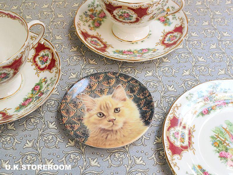 画像1: CH143 Royal Worcester Lesley Anne Ivory  レズリー・アン・アイボリー Ivory Cats ピンディッシュ  (1)