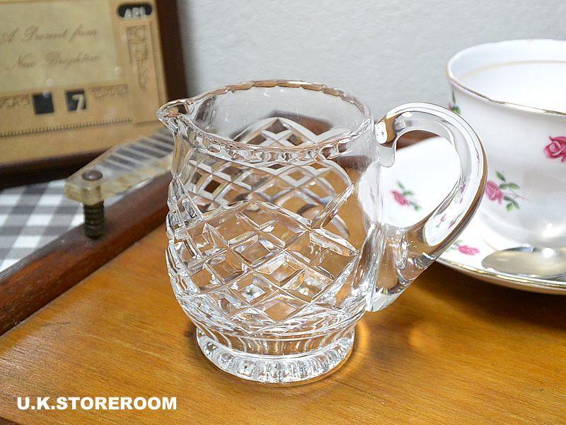 画像1: GS032 クリスタルガラス製 クリーマー (1)