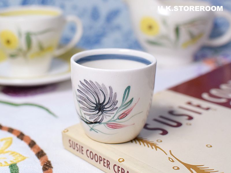 画像1: SC159  Susie Cooper  スージークーパー ブルーダリア エッグカップ (1)