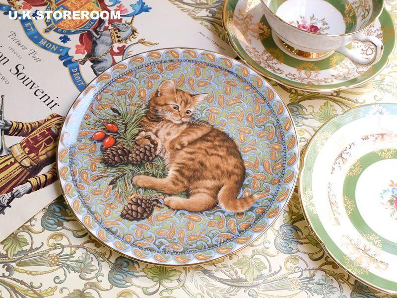 画像1: CH181 Aynsley Lesley Anne Ivory  レズリー・アン・アイボリー Meet My Kitten 1月 ピクチャープレート  (1)