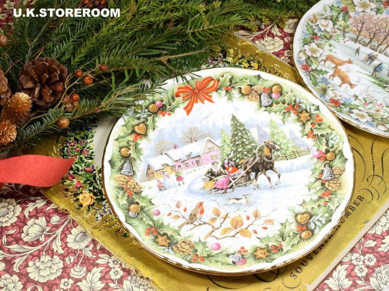 画像1: RA169Royal Albert  ロイヤルアルバート  クリスマスプレート-Christmas Sleighride- (1)